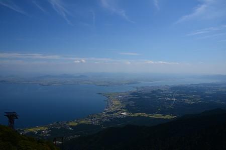 びわ湖バレイから見た琵琶湖