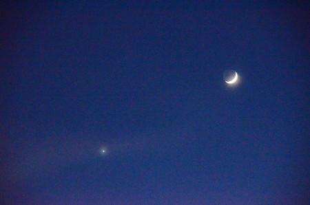 三日月と宵の明星