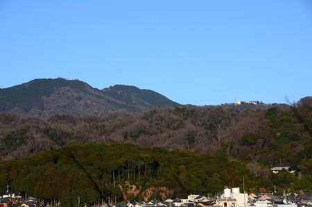 真如堂付近からの比叡山