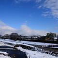 写真: 雪景色の賀茂川