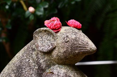 狛鼠の花飾り~