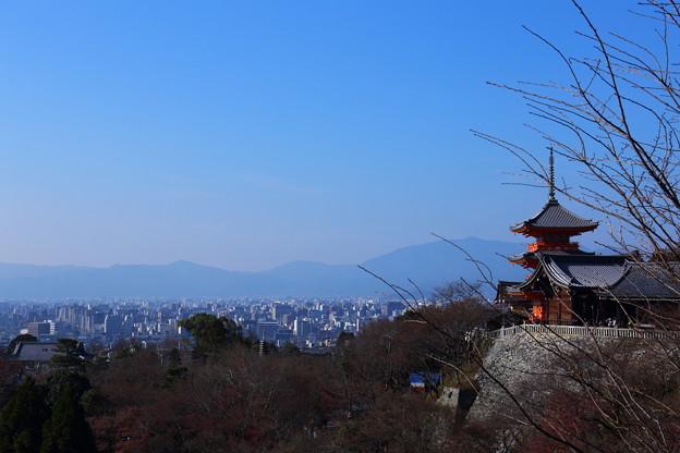 京の都 寒の空
