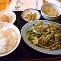 Photos: 豚肉とザーサイの細切り炒め定食