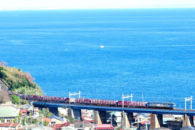 EF210電機が牽引する貨物列車