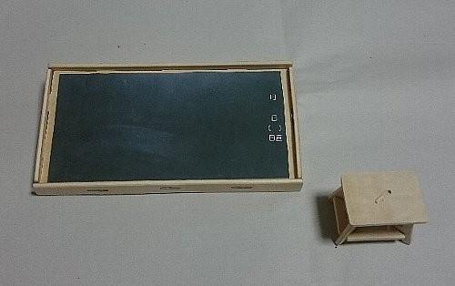 ウッドクラフト学校 黒板と踏み台