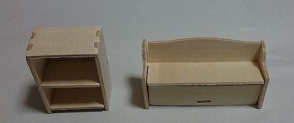 ウッドクラフト ベンチチェスト+2段ボックス