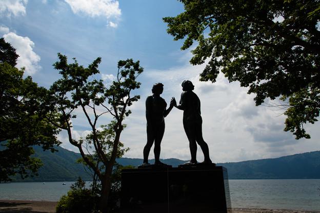 十和田湖(乙女の像)20160815