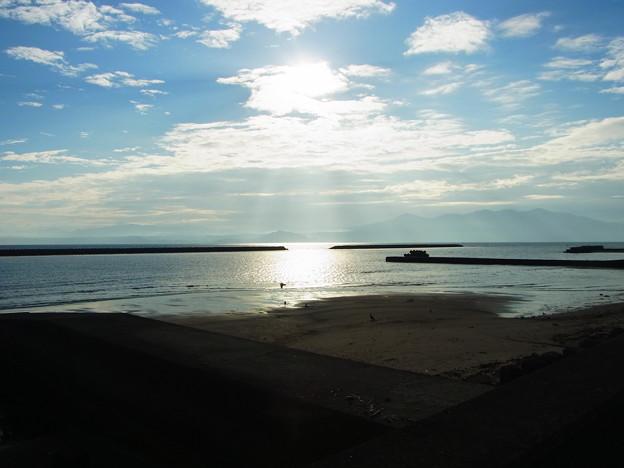 ライダーハウス指宿前の海