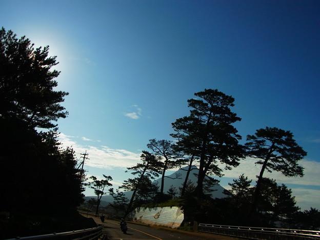 薩摩富士とバイク