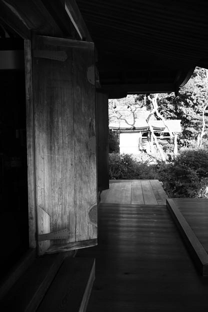 Photos: 本堂の扉