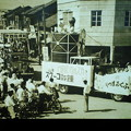 写真: 何十年前の福井祭りのパレード