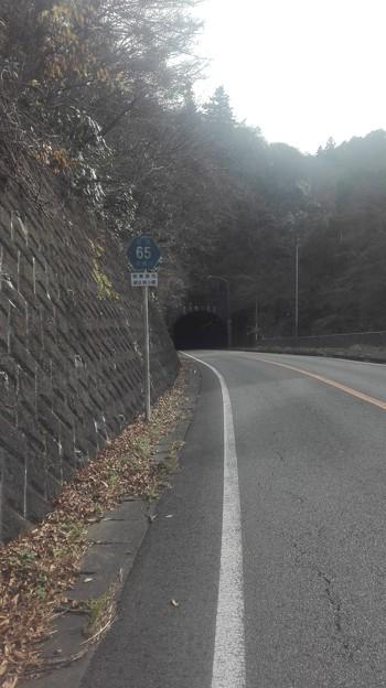 三増トンネル。霧じゃなくて光です。