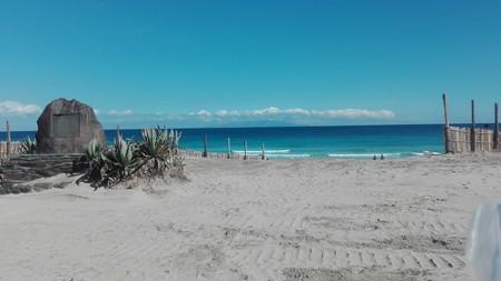 白浜海岸 きれいな海と空