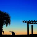 Photos: 夕暮れの境界線