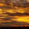 猛暑日の夕景