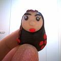 写真: ふふふ。昨日作った粘土。あたいが作る子は、鼻がでかくて、唇は分厚...