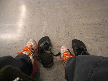 サンダルから靴に