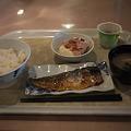 おが丸の朝飯メニュー、サバ塩焼き