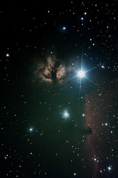 アルニタク、燃える木、馬頭星雲