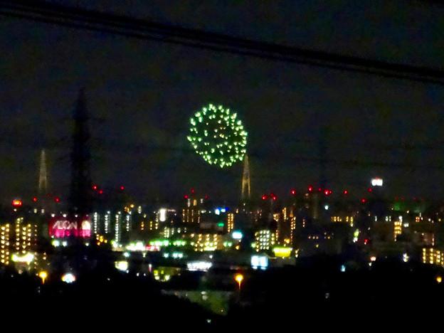 写真: 桃花台(小牧市)から見えた、熱田まつりの花火 - 11