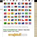 写真: 絵文字入力補助拡張「Emoji Input by EmojiStuff.com」- 3:国旗