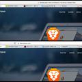 Photos: Brave 0.10.3 No - 24:アクティブ・非アクティブで変わるアドレスバー