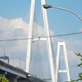 写真: 金城ふ頭から見上げた名港トリトン「名港中央大橋」 - 4