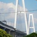 写真: 金城ふ頭から見上げた名港トリトン「名港中央大橋」 - 6
