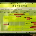写真: 大高緑地に「ディノアドベンチャー名古屋」がプレオープン! - 90:コース内に設置されてる恐竜解説(年表)