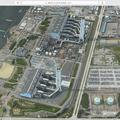 OSXマップアプリで見た、新名古屋火力発電所 - 2