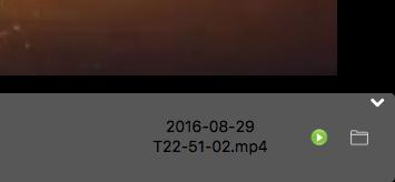 MacでiPhone画面のAirPlayができるアプリ「LonelyScreen」- 12(録画済みのファイルを開くメニュー)