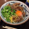 丸亀製麺:牛すき釜玉 - 1