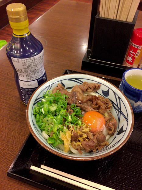Photos: 丸亀製麺:牛すき釜玉 - 2