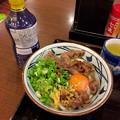 丸亀製麺:牛すき釜玉 - 2