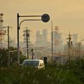 写真: 夕暮れ時の国道19号沿いから見下ろした、名駅ビル群 - 5