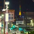大須商店街から見えた、名古屋テレビ塔のイルミネーション - 1