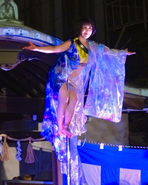 大須大道町人祭 2016 No - 85:ポールダンサー「鷹島姫乃」さんのパフォーマンス
