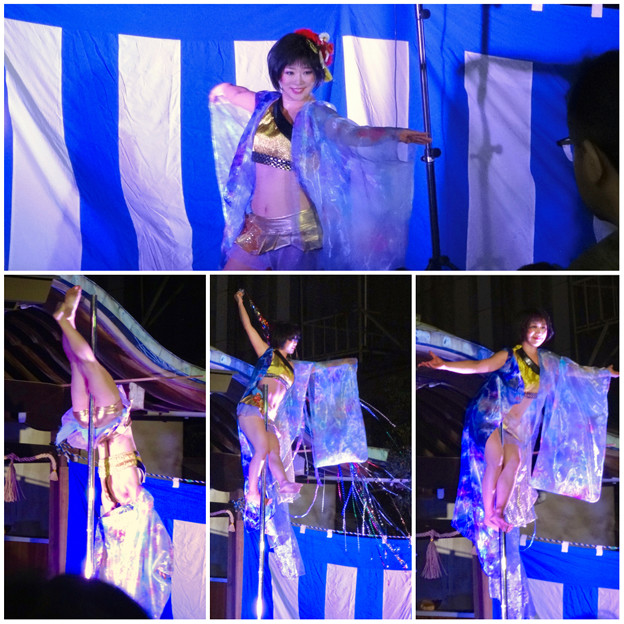大須大道町人祭 2016 No - 86:ポールダンサー「鷹島姫乃」さんのパフォーマンス