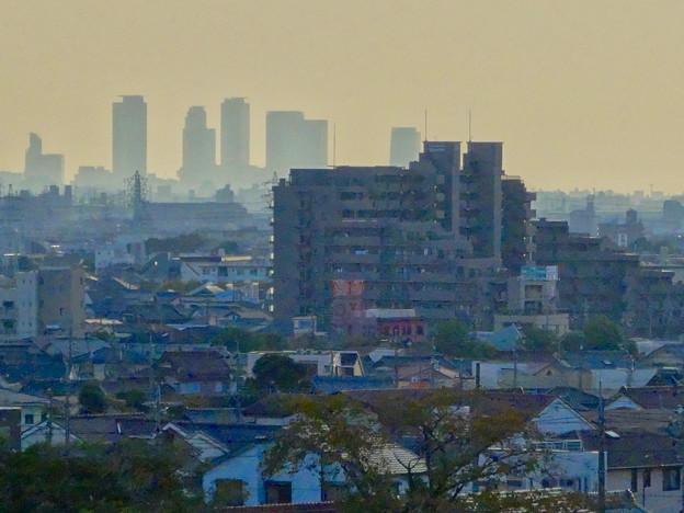 写真: 落合公園:水の塔最上階から見た景色 - 10(名駅ビル群)