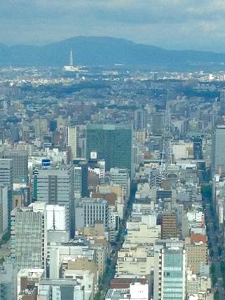 ミッドランドスクエア「スカイプロムナード」から見た景色(2012年9月9日撮影) - 8:名古屋テレビ塔と瀬戸デジタルタワー
