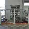 写真: 今日からリニューアルオープンした新・JR春日井駅 - 22:閉鎖されてた工事用の仮設階段?