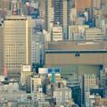写真: ミッドランドスクエア「スカイプロムナード」から見た景色(夕方) - 34:NHK名古屋放送局と愛知芸術文化センター
