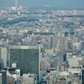 写真: ミッドランドスクエア「スカイプロムナード」から見た景色(夕方) - 37:名古屋テレビ塔越しに見た瀬戸デジタルタワー
