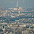 写真: ミッドランドスクエア「スカイプロムナード」から見た景色(夕方) - 39:瀬戸デジタルタワー