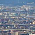 写真: ミッドランドスクエア「スカイプロムナード」から見た景色(夕方) - 86:県営名古屋空港とエアポートウォーク名古屋
