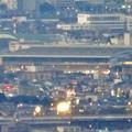 写真: ミッドランドスクエア「スカイプロムナード」から見た景色(夕方) - 87:エアポートウォーク名古屋