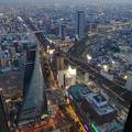ミッドランドスクエア「スカイプロムナード」から見た景色(夕方) - 92:南側