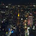 写真: ミッドランドスクエア「スカイプロムナード」から見た夜景 - 25:名古屋テレビ塔