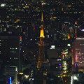 写真: ミッドランドスクエア「スカイプロムナード」から見た夜景 - 27:名古屋テレビ塔