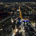 写真: ミッドランドスクエア「スカイプロムナード」から見た夜景 - 28:北側